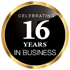 Celebrating 16 Years in Business