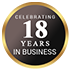 Celebrating 18 Years in Business